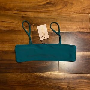 NWT Missguided teal swim top size 6 no pads
